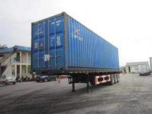 Sơ mi rơ moóc tải (chở container)