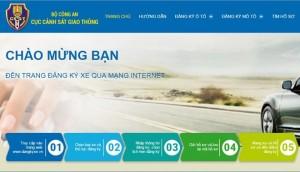 Người dân tại Hà Nội và TP.HCM sẽ đăng ký ôtô qua mạng