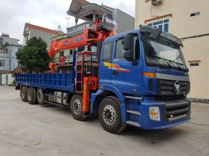 Ô tô gắn cẩu Thaco Auman C34 – Kanglim 10 tấn