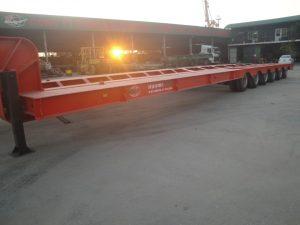 Sơ mi rơ moóc 6 trục chở máy chuyên dùng hoặc cấu kiện rời – Khối lượng toàn bộ 80 tấn